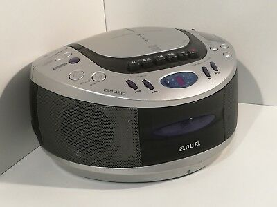 Aiwa Portable CD Cassette Tape Player and Radio Boombox Stereo