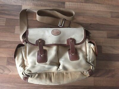 Barbour Canvas and Leather Triee Trout Bag In Full Working Order