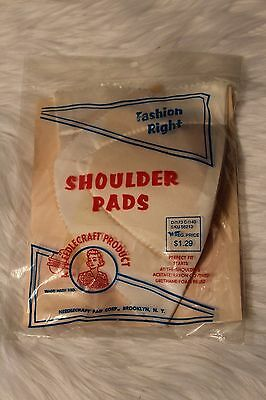 Vintage Needlecraft Pad Corp. Feather Foam Shoulder Pads Taffeta Covered in USA