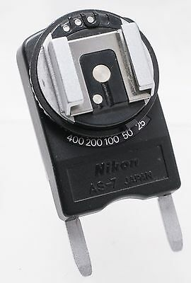 Nikon AS-7 Hot Shoe Attachment Flash Coupler Adapter For F3 F3HP SLR Cameras