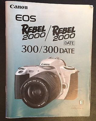 CANON EOS REBEL 2000 DATE INSTRUCTION BOOK / 74 pages