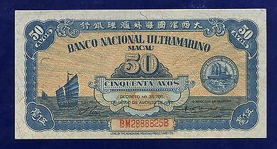 Macau , Macao 50 Avos 1946 PIC38  UNCIRCULATED 28888258 CL-2