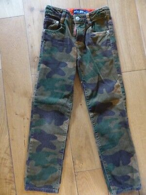 Boys Mini Boden Camouflage Cord Trousers (Age 7)