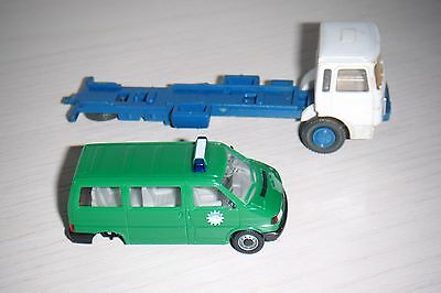 HERPA/WIKING VW caravelle e autocarro MAN in scala HO