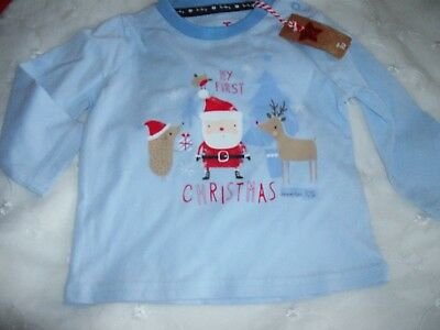 Baby Boys Xmas Top Age 6-9Months New