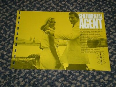 Sentimental Agent - rare 1963 ITC sales flyer. Carlos Thompson, Clemence Bettany