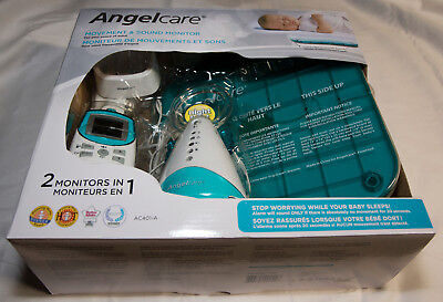 Angelcare AC401 Baby Movement and Audio Monitor with Wired Sensor Pad