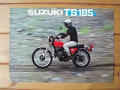 SUZUKI TS185 double-sided leaflet, c1978, very good condition, no reserve