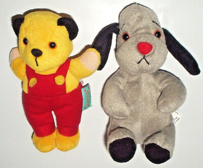 """Sooty & Sweep 6"""" Plush Soft Toy Set Collection Golden Bear & Whitehouse Ltd Vgc"""