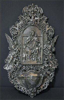 Huge Heavy Solid Silver Holy Fountain Profuse Decoration