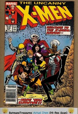 Uncanny X-Men #219 (8.5) VF+ Havoc Joins the Team 1987 Copper Age Key Issue