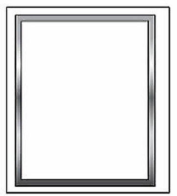 Wall Mounted Silver Snap Frame 22x28