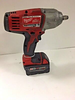 "Milwaukee 1/2"" Impact Wrench w/ 18V Batt M18 Cat 2663-20"