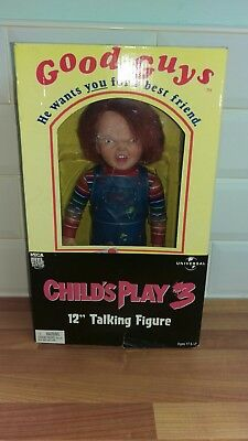 "neca 12"" childs play talking chucky doll horror figure"