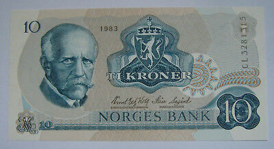 Norway 10 Kroner 1983, Norges Bank, UNC Condition