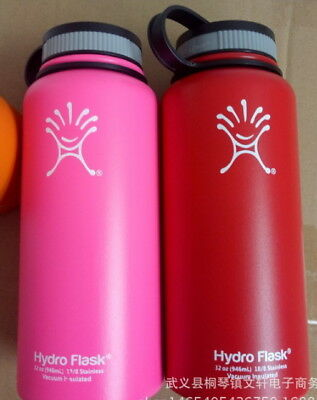 2PC New 32 oz Hydro Flask Insulated Stainless Steel Water Bottle Wide Mouth