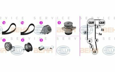 Kit de distribution + pompe à eau VW Bora 1.6 16V 1.6 FSI HELLA