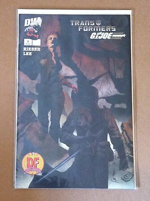 Transformers G.i.joe #1 Df Dynamic Forces Exclusive Jae Lee Variant Cover 1702