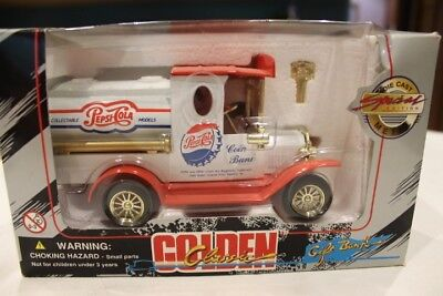 Pepsi Cola Golden Classic Die-Cast Special Edition Coin Gift Bank