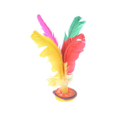 Outdoor Sports 4 Colors Feather Chinese Jianzi Game Shuttlecock 17CM High EP