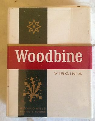 vintage  collectable wills woodbine  20 cigarette  packet + contents