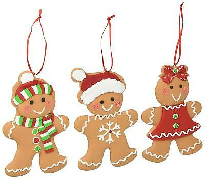 Christmas Tree Ornaments Gingerbread Cookies Decor Holiday