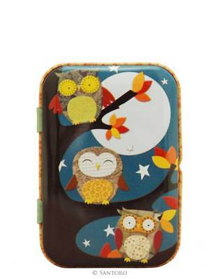 Santoro Electic Animal - Tin Can with Microfiber Cloth - Night Owls
