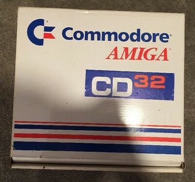 COMMODORE AMIGA CD32 CONSOLE BOX Only. Rare Empty box And Inserts Only
