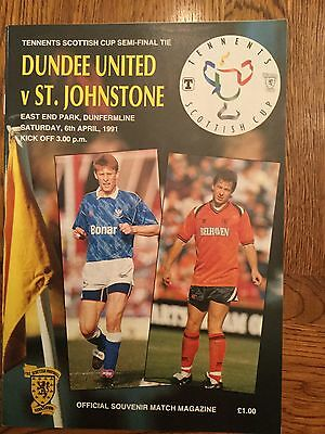 Scottish Cup Semi Final  Dundee Utd V St Johnstone 1991  Mint Condition