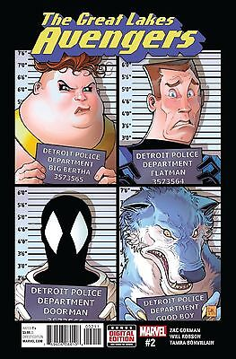 Great Lakes Avengers #2 Regular Cover Zac Gorman Will Robson 1St Printing Nm