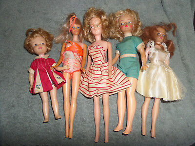 Lot Of 5 Vintage Dolls Found In The Attic~Barbies?