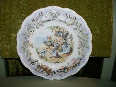 Royal Doulton Brambly Hedge Plate - Meeting On The Sand.