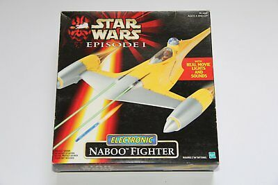 Vintage Star Wars Hasbro Episode 1 Vehicle Naboo Fighter für Action Figuren