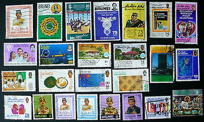 Brunei: Collection Of 25 Used Stamps:  Lot 5