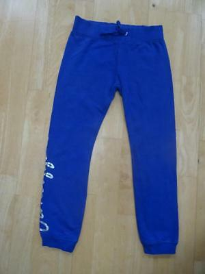 PINEAPPLE girls blue slim leg tracksuit trousers AGE 7-8 YEARS EXCELLENT