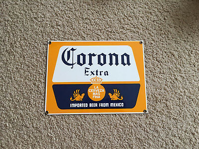 "Metal Corona Sign- Ande Rooney- Perfect for ""Man Cave"" or Bar!"