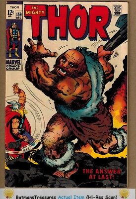 The Mighty Thor #159 (8.0-8.5) VF+ Thor Origin 1968 By Stan Lee & Jack Kirby