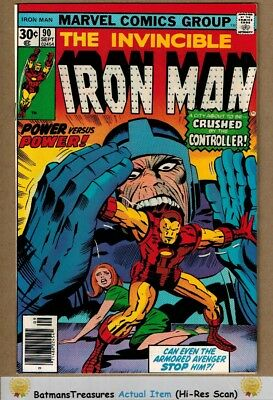 Invincible Iron Man #90 (9.2) NM- By Jim Shooter 1976 Bronze Age Key Issue