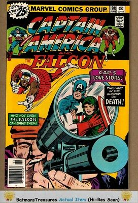 Captain America #198 (9.2-9.4) NM 1976 Bronze Age Key Issue By Jack Kirby