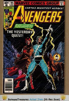 Avengers #185 (9.0) VF/NM 1st Ever Quicksilver & Scarlet Witch Origin 1979