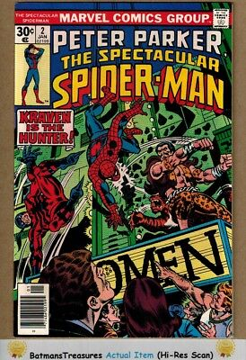 Spectacular Spider-Man #2 (9.4-9.6) NM+ Kraven the Hunter Appearance 1977
