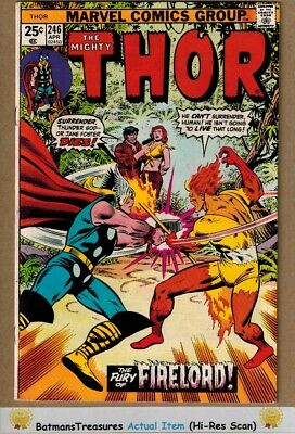 The Mighty Thor #246 (8.0-8.5) VF+ Firelord Appearance 1976 Bronze Age Key Issue