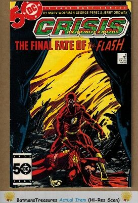 Crisis On Infinite Earths #8 (9.0) VF/NM Death of the Flash 1985 By George Perez