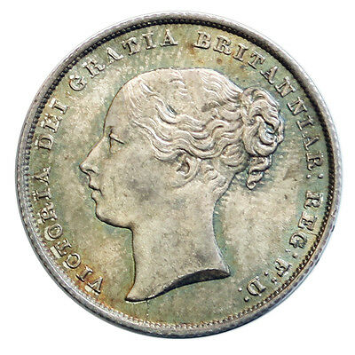 1855 shilling, slabbed by NGC MS 65