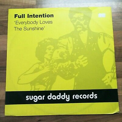 """Full Intention, Everybody lives the sunshine. 12"""" vinyl. Sugar Daddy Records..."""