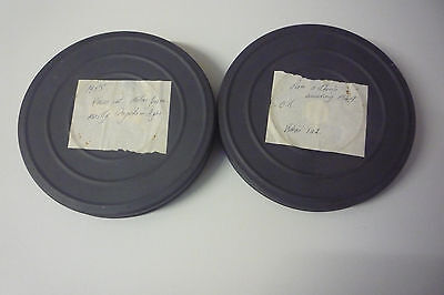 Lot of 2 x 16mm home movie film reels 1949 and 1955 family and wedding footage