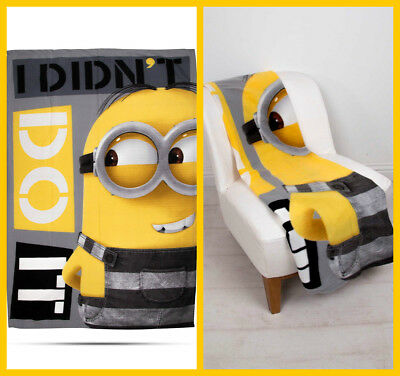 LARGE Despicable Me 3 Minions Super Soft Fleece Blanket Kids Boys Bed Throw