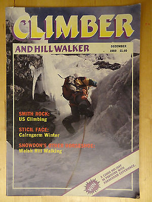 Climber And Hill Walker Magazine December 1989 Vintage  Mountain Vol 28 No 12