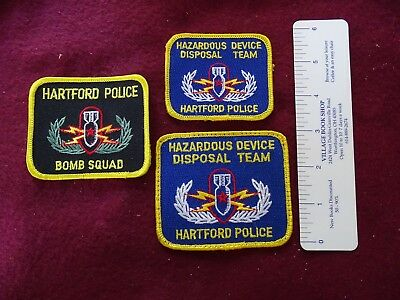 3 Different Hartford, Connecticut Hazardous Disposal Patches