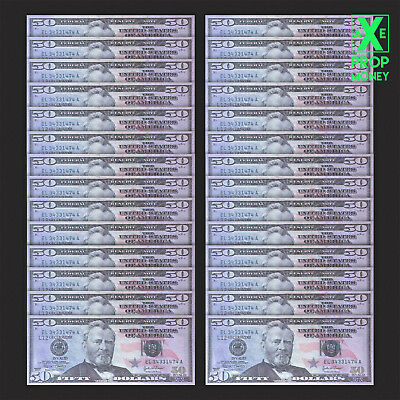 $2500 Hollywood Movie Style US 50 Dollars Full Print HQ Prop Paper Money